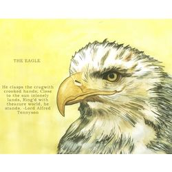 Eagle Eyes I Personalized Art Print