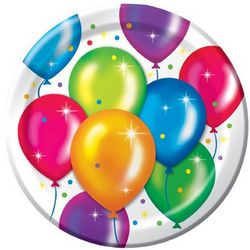 "Birthday Balloons 8.75"" Dinner Plates"