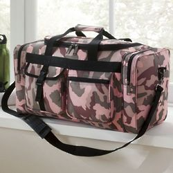 Pink Camouflage Duffel Bag
