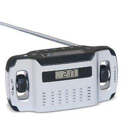 Solar Crank Radio Silver