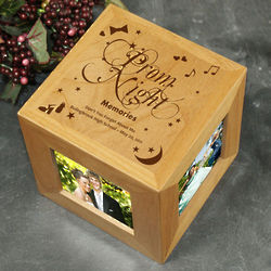 Engraved Prom Night Photo Cube