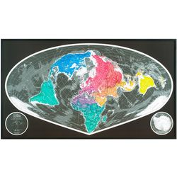 Sinu Mollweide Magnetic World Map