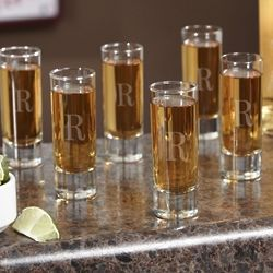 Tall Personalized Shot Glasses