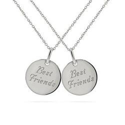 Sterling Silver Best Friends Necklace