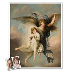 Personalized Classic Painting Angel and Child Art Print
