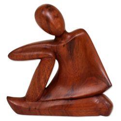 Unwind Suar Wood Statuette