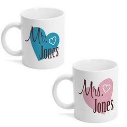 Mr. and Mrs. Matching Mug Set