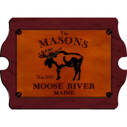 Personalized Vintage Moose Design Cabin Pub Sign