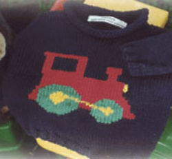 Hand Knit Cotton Train Sweater