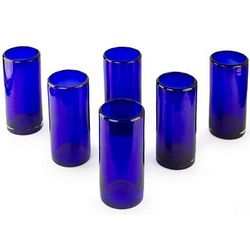 Pure Cobalt Highball Glasses