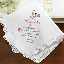 Personalized First Communion Handkerchief