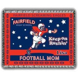 Rushin' Football Mom Afghan