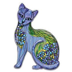 Iris Intrigue Cat Art Wall Decor