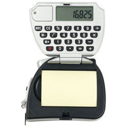 16 ft Tape Measure with Calculator and Notepad