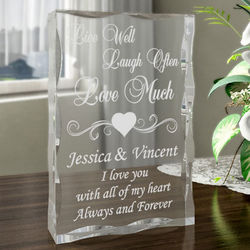 Personalized Live, Love, Laugh Plaque