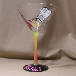 "Personalized ""The Chef"" Hand Painted Martini or Wine Glass"