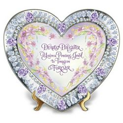 Daughter, You're My Heart's Treasure Heirloom Porcelain Plate