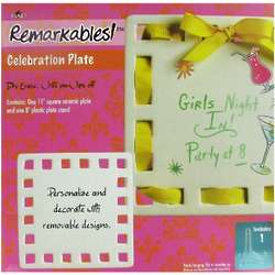 Personalized Square Ceramic Celebration Plate