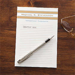 Personalized Classy Stripes Notepad