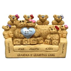 Anniversary Figurine for Couples with up to 9 Kids