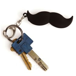 Talking Mustache Keyring