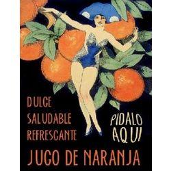 Jugo de Naranja Cubano Vintage Cuban Ad Print