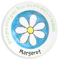 Girl's Personalized Daisy Birth Plate