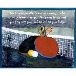 Table Tennis Personalized Art Print