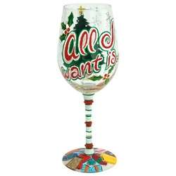 All I Want Wine Glass