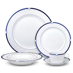 Jet Set Blue Dinnerware Set