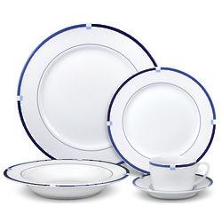 Jet Set Blue Dinnerware Set