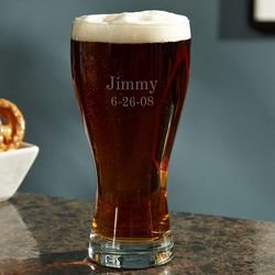 Personalized Traditional Pilsner Glass