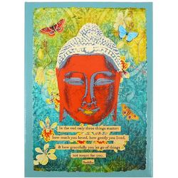 'Only 3 Things Matter' Buddha Quote 5x7 Canvas Wall Hanging