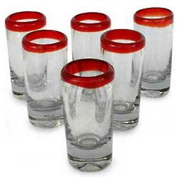 Ruby Shot Tequila/Sherry Glasses