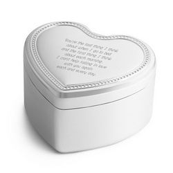 Musical Heart Jewelry Box featuring My Girl