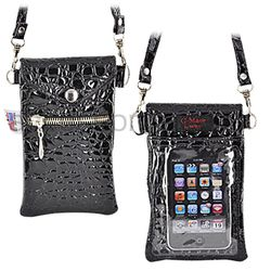 iPhone/iPod Crocodile Carry Case with Shoulder Strap