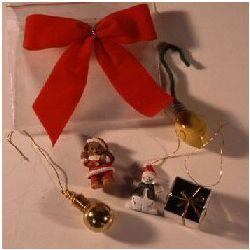 Miniature Christmas Ornament Set