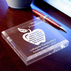 Personalized a Teacher Keepsake & Paperweight