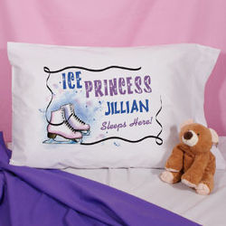 Personalized Ice Skating Pillowcase