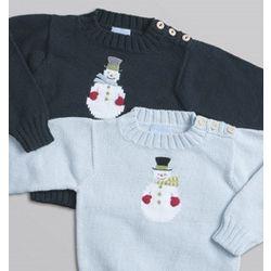 Intarsia Snowman Sweater