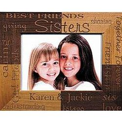 Personalized Sisters Wooden Frame