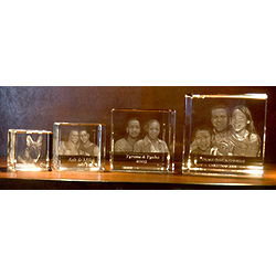 Custom Photo Crystal Cube