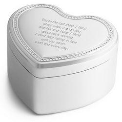 White Christmas Heart Music Box