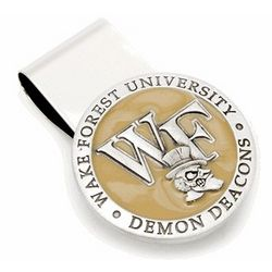 Wake Forest Demon Deacons Pewter Money Clip