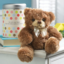 Teddy Bear in a Personalized Tin