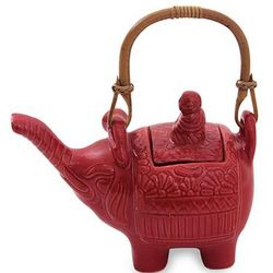 Buddha and the Ruby Elephant Ceramic Teapot
