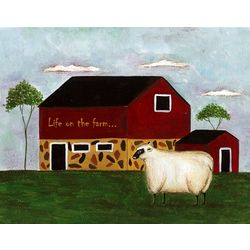 Life on the Farm Personalized Art Print
