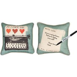 Vintage PS I Love You Reversible Write-On Pillow