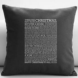 T'was the Night Before Christmas Throw Pillow Cover and Insert