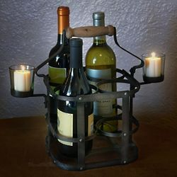 Four Bottle Avignon French Wine Carrier